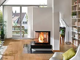 wood burning fireplace contemporary closed hearth 3 sided 1 168 0