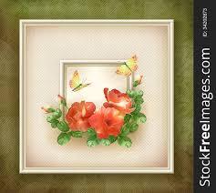 border frame background flower