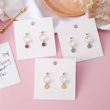 【In Stock】<b>S925 Silver Needle</b> Crystal Candy Earrings Geometric ...
