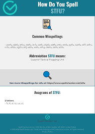 Correct spelling for STFU [Infographic]