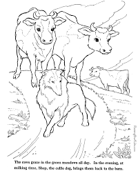 Cows Coloring Page Farm Animals To Print And Color 011