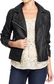 fake black leather jacket