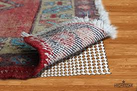 highestar super gripping non slip area rug pad gripper for hard floors 8 x 10