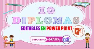 10 Diplomas Editables Gratis