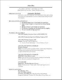 Automotive Technician Resume Stunning auto mechanic resume Sample Professional Resume