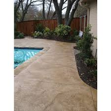 brown textured stamped concrete