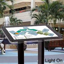 Angled Display Stand Illuminated Lobby Display Waiting Room Directory Showcase 52
