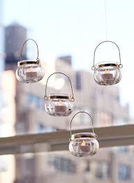 Hanging Glass Tea Light Spheres 2 1 4in Mini Hanging Glass Tea Light Holder Set Of 4
