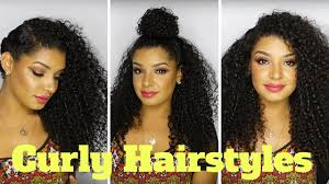 Cute Easy Curly Hairstyles For Natural Hair Youtube