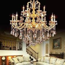 gold chandelier crystal modern lights indoor lighting led parts kitchen rose light shade