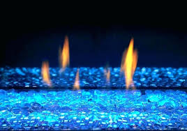 gas fireplace glass beads canada s natural outdoor with clear led lights set on blue inserts
