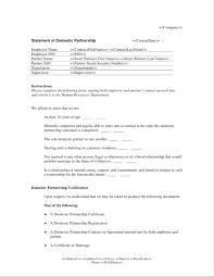 Domestic Partnership Agreement Template Template For Partnership Agreement Domestic Partner Sample 2