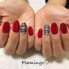 Flamingoさんのネイルデザイン Glen Checkbord Tredina