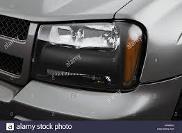 2008 Chevrolet TrailBlazer LT in Gray - Headlight Stock Photo ...