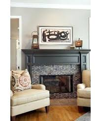 eclectic family room by allied painting fireplace surround white painted mantels add pizzazz