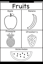Fruits Coloring And Tracing 1 Worksheet