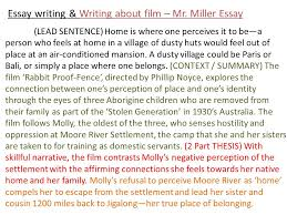 essay writing writing about film part the return brought to  5 essay
