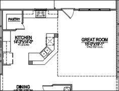 l shaped kitchen floor plans with dimensions | Corner Pantry Kitchen Ideas  | 2013 Kitchen Design Ideas | Kitchens | Pinterest | Kitchen floor plans,  ...
