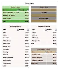 basic budget worksheet college student spreadsheet free printableege semester budget worksheets organize
