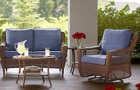 brown wicker outdoor furniture home