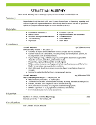 best aircraft mechanic resume example livecareer create my resume