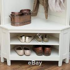 Corner Entry Bench Coat Rack Hall Tree Entryway Bench with Shelf Shoe Storage and Coat Rack for Entry 75