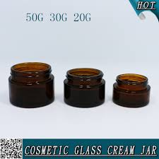 20ml 30ml 50ml amber glass cosmetic container mason jars with gold cap