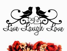 two love bird silhouette. Interesting Silhouette Live Laugh Love Bird Silhouette Metal Wall Sign W Two Hearts  Garden  Decor To E