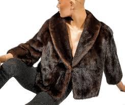 elegant short dark brown mink jacket with slight bolero look mink fur jacket light