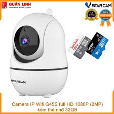 Chỉ 575,100đ Camera giám sát IP Wifi hồng ngoại ban đêm Vstarcam G45S Full  HD 1080P 2MP kèm thẻ 32GB