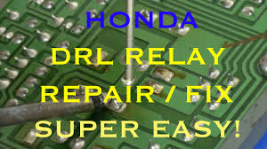 drl relay repair honda day time running lights youtube  at 2001 Honda Insight Headlight Warning Buzzer Wiring Diagram