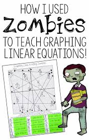 Each line should only kill one zombie. Graphing Lines Zombies Graphing In All 3 Forms Of Linear Equations Activity Graphing Linear Equations Graphing Linear Equations Activities Linear Equations