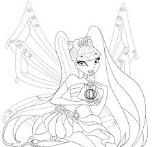 Winx Club Coloring Pages Stella free printable winx club coloring pages for kids on coloring pages winx