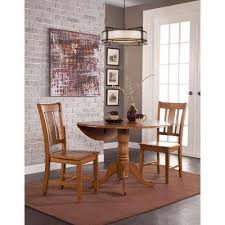distressed pecan skirted dining table