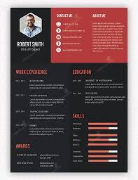 Resume Layout Design Professional Menu And Resume