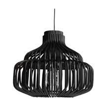 endless black rattan pendant light