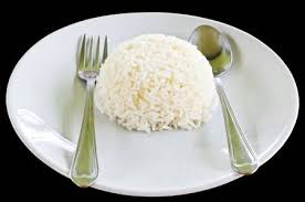 plate of white rice.  Plate Steamed White Rice From Jasmin With Fork On The Plate Stock  Photo Picture And Royalty Free Image Image 15999818 Throughout Plate Of W