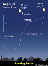 Tonights Star Chart This Weeks Sky At A Glance August 9 17 Sky Telescope