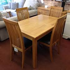 wharfdale extending oak dining table with 4 chairs
