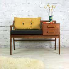 vintage teak furniture. Contemporary Furniture Vintage Teak 1960s Telephone Seat In Furniture