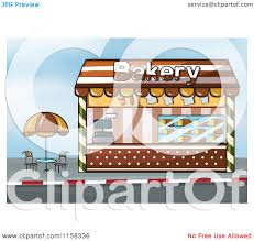 Clipart Of A Bakery Shop Storefront Royalty Free Vector