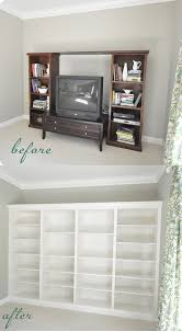 beautiful diy built in bookcases from ikea shelves