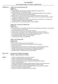 Freelance Producer Resume Samples Velvet Jobs