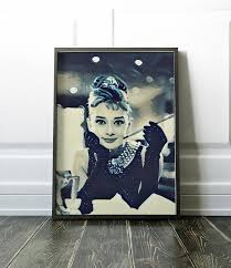 breakfast at tiffany s poster audrey hepburn movie poster canvas art poster cinema print on audrey hepburn breakfast at tiffanys wall art with breakfast at tiffany s poster audrey hepburn movie poster canvas