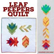 Pattern Sale Mesmerizing Leaf Peepers Quilt Pattern LeahDay