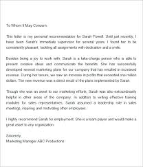 letter for job recommendation letter of recommendation for employment crna cover letter