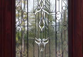 wrought iron front doors with glass