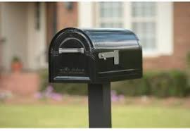 mailbox with mail indicator. Perfect Mail Internal Locking System Post Mount Hopper Mailbox With Mail Indicator Flag  Black In With E