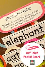 Make Your Own Table Top Pocket Chart