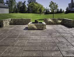 stamped concrete patio ideas options of color schemes amazing
